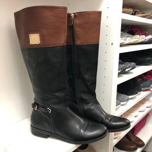 Tommy Hilfiger Black/Cognac Riding Boots